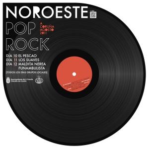 Cartel para el NOROESTE POP ROCK (A CORUÑA)